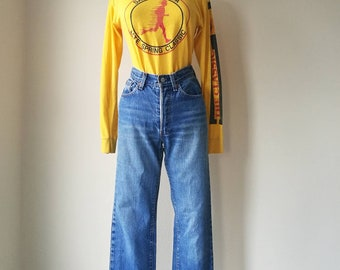HOLD! (please don't purchase) Vintage Levi's high waisted jeans great color fade  W26""