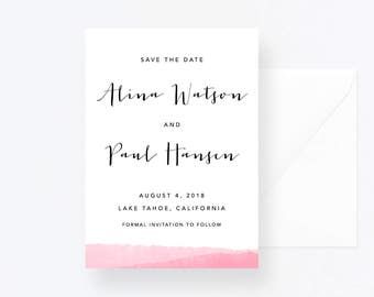 Custom Printable Save the Date, Wedding DIY Invitations, Personalized Stationery Cards,  Pdf Save the Date Wedding, Custom save the date