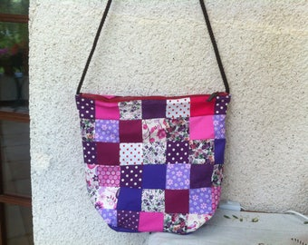 Bag patchwork mauve