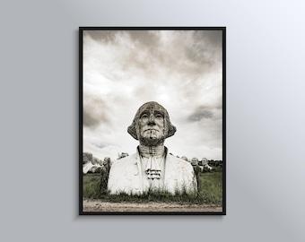 George Washington Abandoned President Heads Photograph