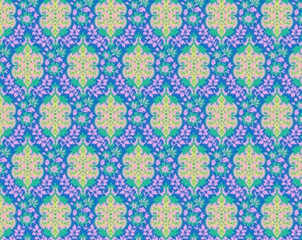 Judith's Fancy by Jennifer Paganelli for Free Spirit - Eileen - Royal - Fat Quarter - FQ - Cotton Quilt Fabric