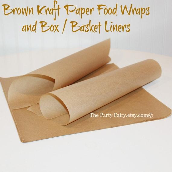Preferred Brown Kraft Paper Food Wraps25 Sandwich PaperFood Basket YV32