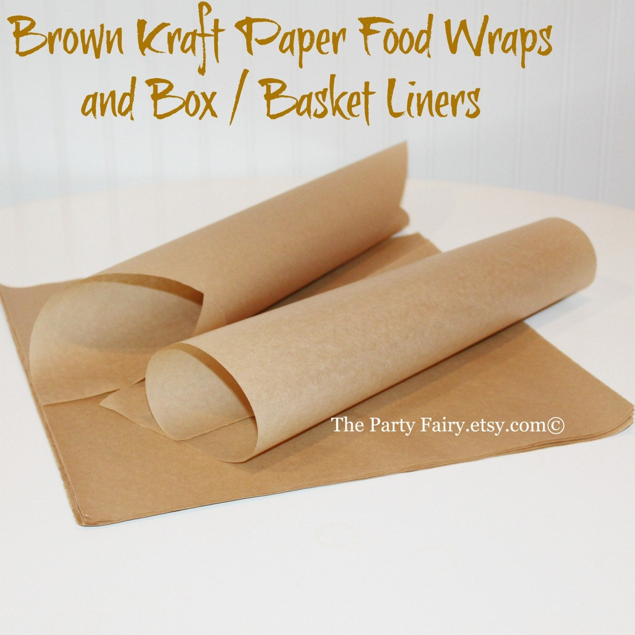 Relatively Brown Kraft Paper Food Wraps25 Sandwich PaperFood Basket AI19