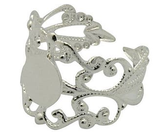 1 x ring adjustable filigree silver