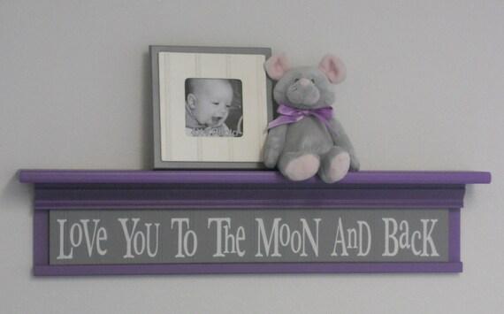 Items similar to Purple and Grey Baby Nursery Decor - Baby ...