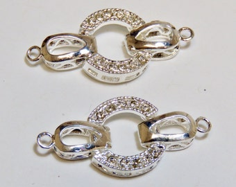 Silver Plated Fold Over Clasp (2)