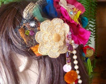 womens headpiece hairpiece hair accessories floral hairclip bellydance