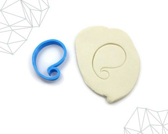 167. Paisley Cookie Cutter, Fondant Cutter, 3D Printed
