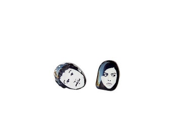 April and Andy Earrings - Andy and April - Jewelry  - Earring Studs - Girlfriend - Sarcasm - April Ludgate - Andy Dwyer - Cute - Love