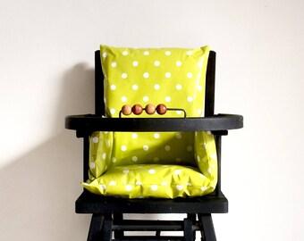 Lime green, high chair cushion / Chair baby