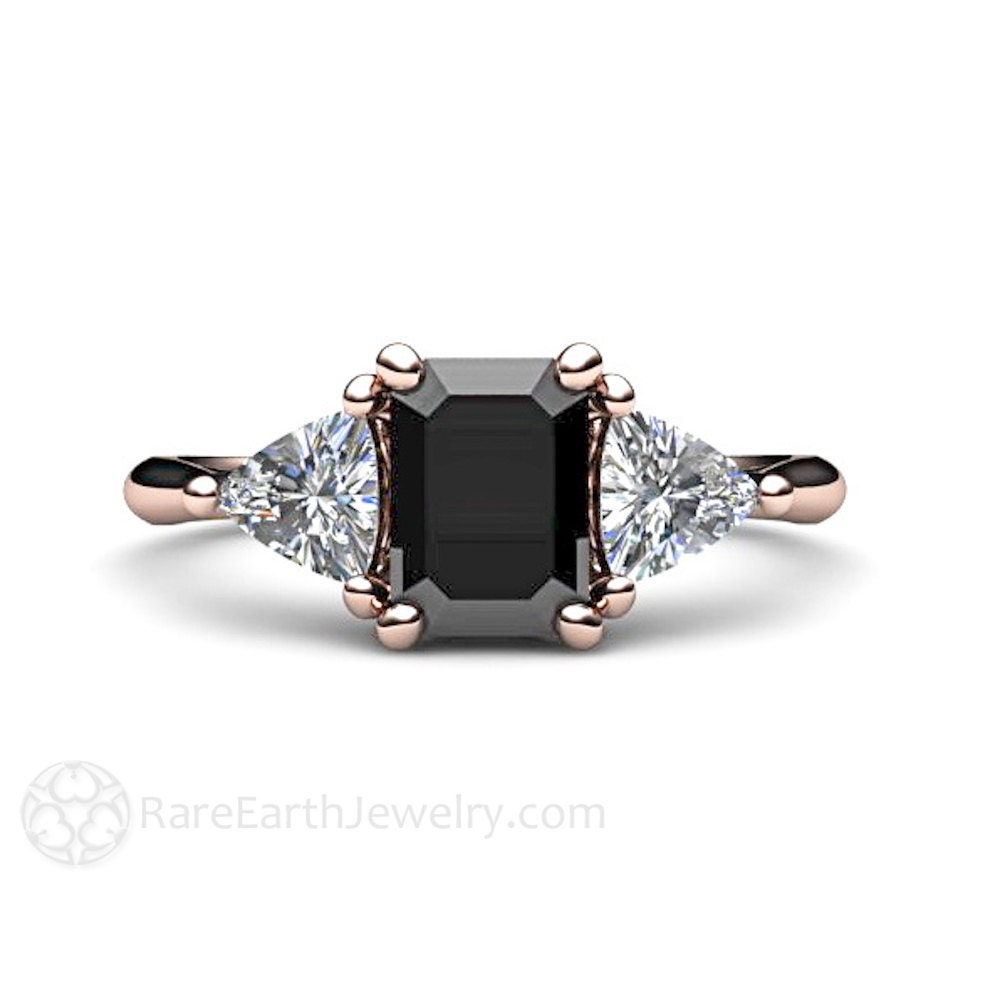 wedding special the cute and diamond black rings style