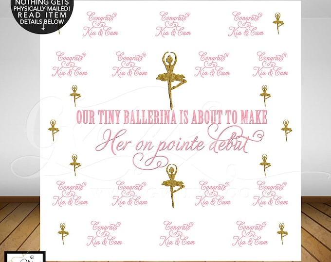 Step and Repeat backdrop, custom step & repeat banner sign, step repeat banner wall poster signs, ballerina. PRINTABLE Custom backdrops.
