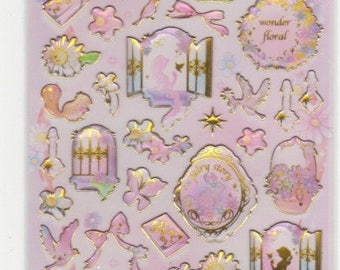 Fantasy Stickers - Fairy Tale Stickers - Raised Stickers - Reference A4225