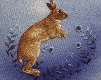Summer Mountain Hare Greetings Card