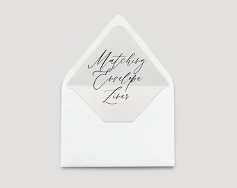 Add-on: Wedding Invitation A7 Envelope Liner