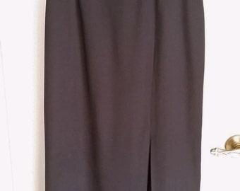 Vintage Black Pencil Skirt