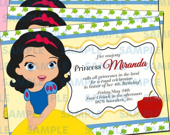 Snow White Princess Party,Snow White party,Snow White invitations,Disney princess,Princess party,Snow White,Princess invitations