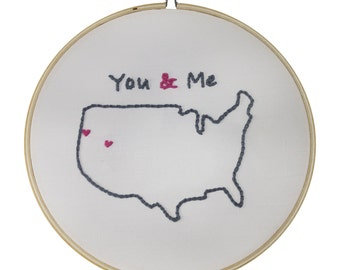 Embroidery Kit, Hand Embroidery, DIY You & Me Kit