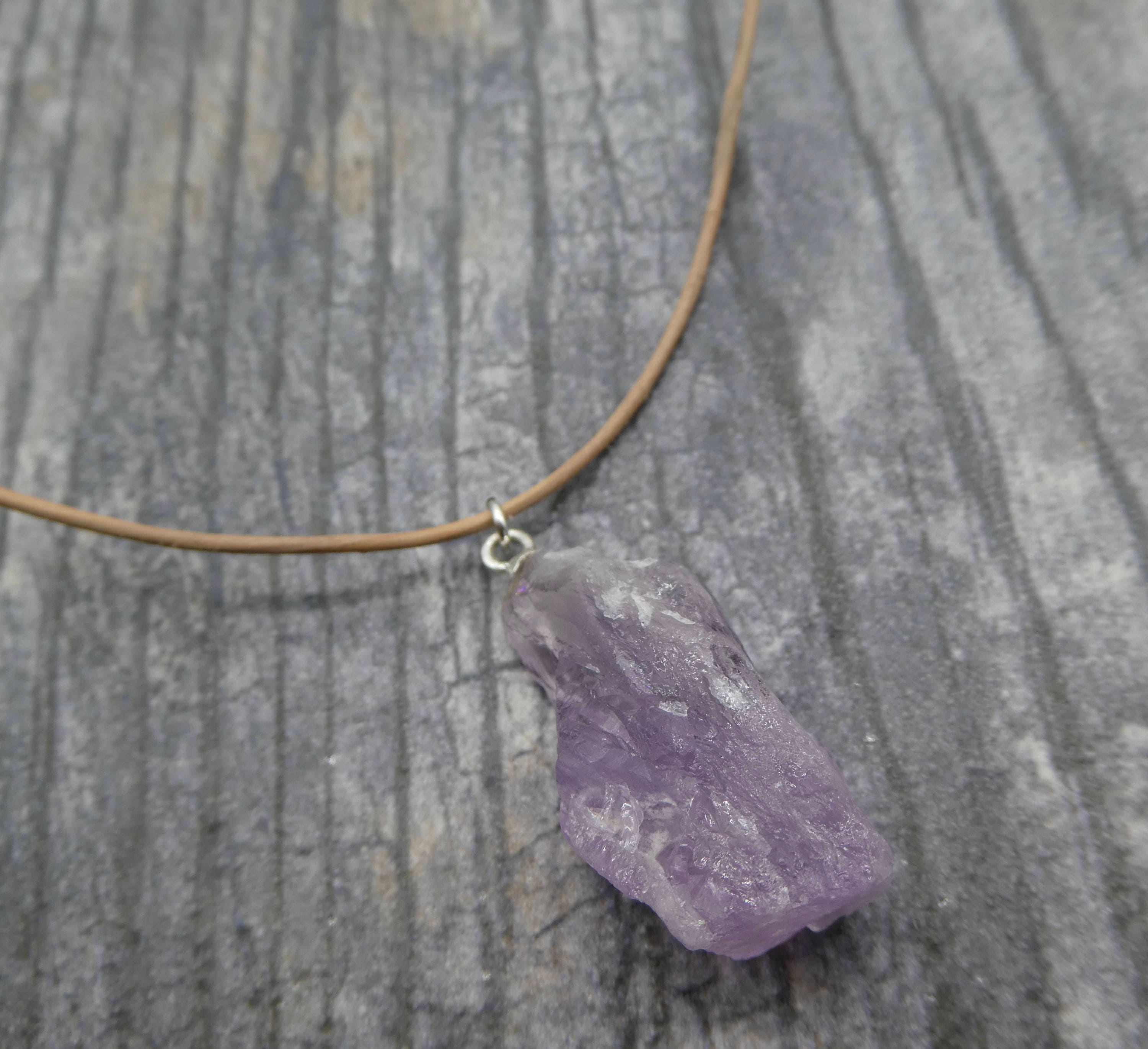 florence druzy stone purple necklace products scovel