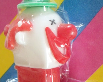 Vintage / PEZ Candy Dispenser / Clown Whistle / Foreign Issue / Merry Music Maker / Red Stem Variation