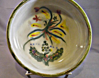 Hand painted/illustrated Celtic soup, ice cream, cereal bowl
