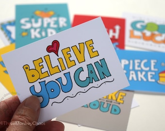 Lunch Box Notes | Encouragement Quotes | Printable Mini Cards | Back to School | Notes for Kids or Adults | Set of 9 - Printable Cards