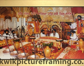 Inside Harmandir Sahib Golden Temple Amritsar In India In Size – 28″ X 13″ Inches