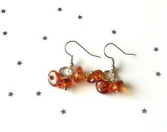 Amber earrings - amber jewellery - sterling silver earrings - 5 earring options available - gift for her