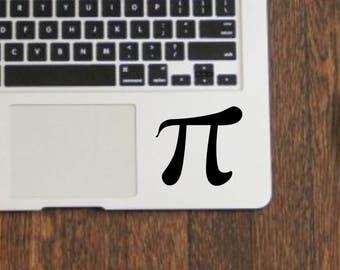 Pi symbol 3.14 die cut vinyl decal sticker for laptops, yeti tumblers, etc..