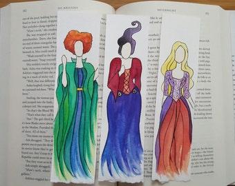 Sanderson Sisters Halloween Minimalist Watercolor Bookmark