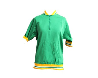 Vintage 60's Athletic Track Top Green Size Large