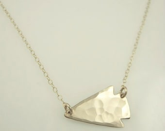 Mini Arrowhead Sideways Necklace