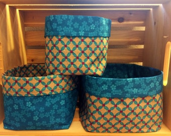 Floral & Print Fabric Bins