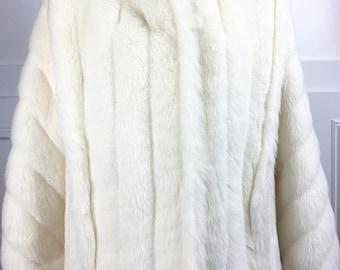 1970s/1980s Pristine Sasson Juniors White Faux Fur Jacket--Sz. 5 (SKU 10603CL)