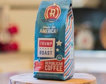 Republican Coffee, Trump Coffee, Trump Lover Gift, Roast Coffee, Organic Coffee, Fair Trade Coffee, Coffee Beans, Honduran Coffee, Coffee