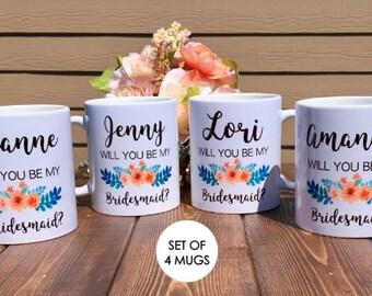 bridesmaid mug set / will you be my bridesmaid mug / bridesmaid proposal / wedding mug / bridesmaid gift / be my bridesmaid / bridesmaid