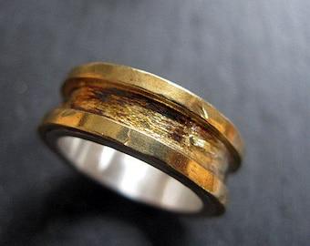 Rustic Mens Wedding Band Size 7 1/2  Mens Wedding Ring Unique Mens Wedding Band Mens Wedding Bands Viking Wedding Ring Mens Wedding Rings Ru