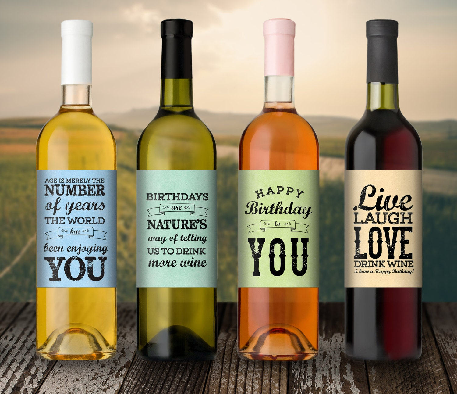 homemade wine labels