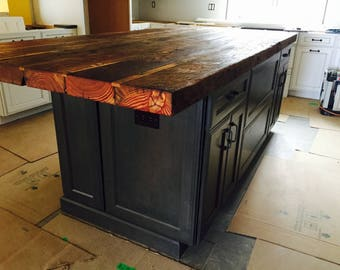Kitchen Island Countertop Chopping Board Countertop Rustic Butcher Block  Countertop Counter Height Table Reclaimed Wood Countertop Pinewood