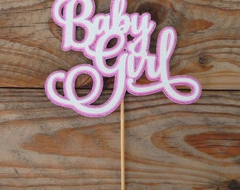 CLEARANCE. Baby Girl Cake Topper.