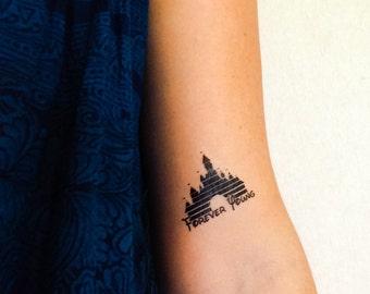 2 Disney Castle Temporary Tattoos- GeekTat
