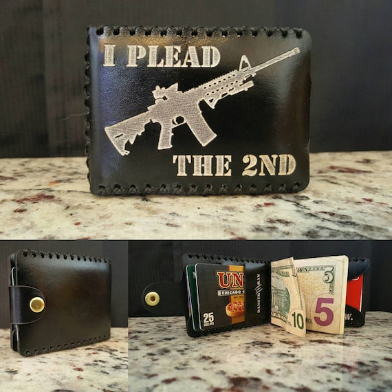I Plead the 2nd Premium English Bridle leather Wallet