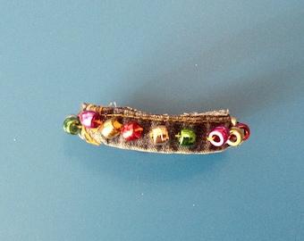 Handmade Denim Beaded Bracelet