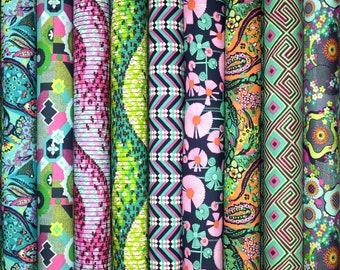 Amy Butler GLOW cotton fabric bundle - fat quarter set of 9
