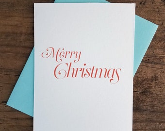 Merry Christmas Letterpress Card
