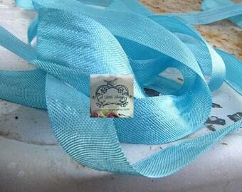 Rayon Seam Binding Ribbon Powder Aqua