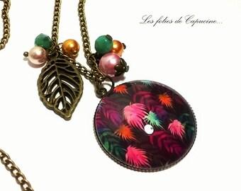 •PALMIERS•. cabochon necklace