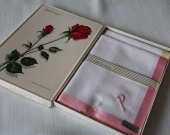 Vintage Lehner handkerchiefs in original box