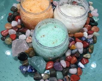 Dead sea salt bath scrubs