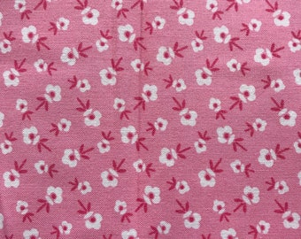 2 yard end of bolt Pink Blossoms Pam Kitty Morning by Lakehouse Dry Goods